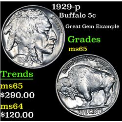 1929-p Buffalo Nickel 5c Grades GEM Unc