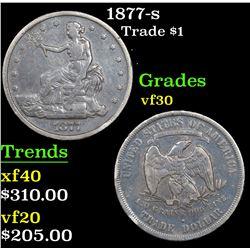1877-s Trade Dollar $1 Grades vf++
