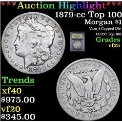 ***Auction Highlight*** 1879-cc Top 100 Morgan Dollar $1 Graded vf+ By USCG (fc)