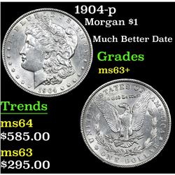 1904-p Morgan Dollar $1 Grades Select+ Unc