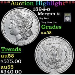 ***Auction Highlight*** 1894-o Morgan Dollar $1 Graded Choice AU/BU Slider By USCG (fc)