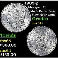 1903-p Morgan Dollar $1 Grades Choice+ Unc