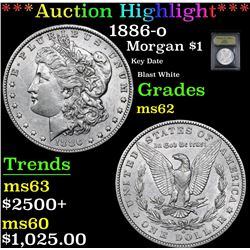 ***Auction Highlight*** 1886-o Morgan Dollar $1 Graded Select Unc By USCG (fc)