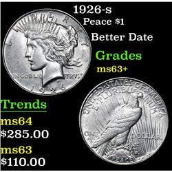 1926-s Peace Dollar $1 Grades Select+ Unc