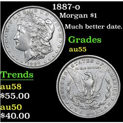 1887-o Morgan Dollar $1 Grades Choice AU
