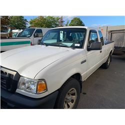 2008 FORD RANGER, 2DRPU, WHITE, GAS, AUTOMATIC, VIN#1FTZR44U68PA33007, 99,609KMS, RD,CD,AC, TIRE