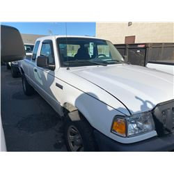 2007 FORD RANGER, 2DRPU, WHITE, GAS, AUTOMATIC, VIN#1FTZR45E87PA35766, 157,004KMS, RD,AC, TIRE