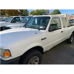 2008 FORD RANGER, 2DRPU, WHITE, GAS, AUTOMATIC, VIN#1FTZR45E08PA15061, 296,951KMS, RD,CD,AC, HAS