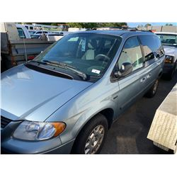 2005 DODGE CARAVAN SE, 4DRSW, BLUE, GAS, AUTOMATIC, VIN#1D4GP25R95B403471, 229,427KMS,