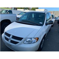 2007 DODGE CARAVAN, 4DRSW, WHITE, GAS, AUTOMATIC, VIN#1D4GP25RX7B130883, 87,431KMS,