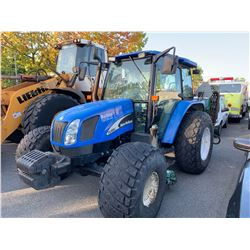 2007 NEW HOLLAND TL100A GREENS MOWER TRACTOR, BLUE, DIESEL, VIN#HJS055981, 9,068 HOURS, RD,4W,