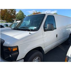 2009 FORD E250 SUPERDUTY, 3 DR VAN, WHITE, GAS, AUTOMATIC, VIN#1FTNE24W89DA45582, 143,479KMS,