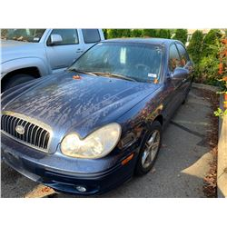 2003 HYUNDAI SONATA, BLUE, 4DRSD, GAS, AUTOMATIC, VIN#KMHWF25H03A804876, TMU *NO KEYS, MUST TOW,