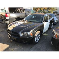 2014 DODGE CHARGER, BLACK, GAS, AUTOMATIC, X-POLICE, VIN#2C3CDXAT5EH149272, 117,396KMS,