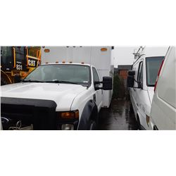 2008 FORD F450 SERVICE TRUCK, WHITE, DIESEL, AUTOMATIC VIN#1FDXF46R58EA34391, 74,553KMS,
