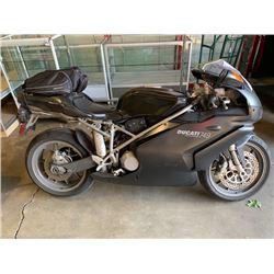 2005 DUCATI 749 TESTASTRETTA, MOTORCYCLE, BLACK, VIN # ZDM1UB3S75B010302