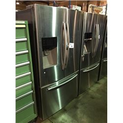 SAMSUNG STAINLESS STEEL FRENCH DOOR FRIDGE WITH ROLL OUT FREEZER WATER AND ICE DISPENSER