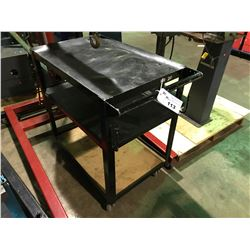 BLACK METAL 3 TIER MOBILE SHOP CART