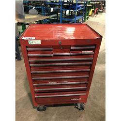 RED WATERLOO 12 DRAWER MOBILE MECHANICS TOOL CHEST