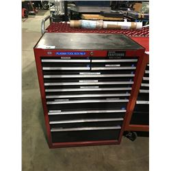 RED CRAFTSMAN 12 DRAWER MOBILE MECHANICS TOOL CHEST