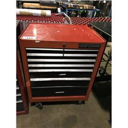 RED CRAFTSMAN 9 DRAWER MOBILE MECHANICS TOOL CHEST