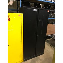BLACK METAL 2 DOOR CONSUMABLES CABINET