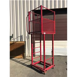 RED 6' MOBILE MAN CAGE