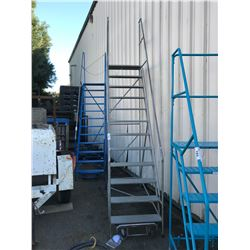 GREY METAL 12' MOBILE SHOP STAIRS