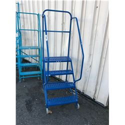 DARK BLUE 4' MOBILE SHOP STAIRS