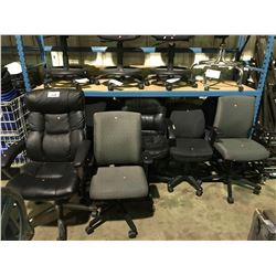 LOT OF 11 ASSORTED MOBILE OFFICE CHAIRS
