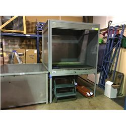 "WATER RINSE/ DIPPING STATION WASH BOOTH GALVANIZED 62"" X 60"" WITH 3' MOBILE SHOP STAIRS & 2 ROLLS"