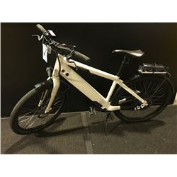 """WHITE STROMER SWISS BORN 16.5"""" 9 SPEED ELECTRIC ASSISTED HYBRID BICYCLE WITH CHARGER"""