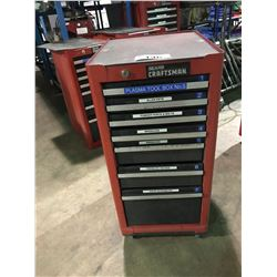 RED CRAFTSMAN 7 DRAWER MOBILE MECHANICS TOOL CHEST
