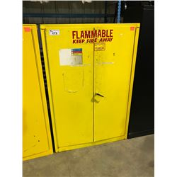 YELLOW 2 DOOR INDUSTRIAL FLAMMABLE LIQUIDS SAFETY STORAGE CABINET