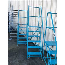 BLUE 6' MOBILE SHOP STAIRS