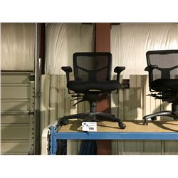 BLACK MESH BACK MOBILE TASK CHAIR ( STYLE 1 )