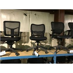 BLACK MESH BACK MOBILE TASK CHAIR ( STYLE 2 )
