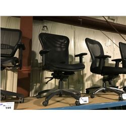 BLACK MESH BACK MOBILE TASK CHAIR ( STYLE 3 )