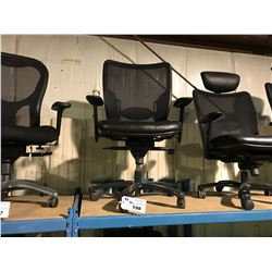 BLACK MESH HIGH BACK MOBILE EXECUTIVE CHAIR