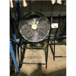 BLACK MOBILE INDUSTRIAL FLOOR FAN