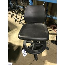 BLACK INDUSTRIAL GAS LIFT MOBILE DRAFTING STOOL ( STYLE 1 )