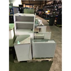 PALLET OF MISCELLANEOUS FILE CABINET PARTS