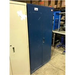 BLUE METAL 2 DOOR CONSUMABLE CABINET
