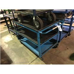 BLUE LARGE 3 TIER MOBILE SHOP CART