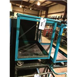 BLUE METAL 2 TIER MOBILE SHOP CART