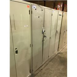 BEIGE METAL 2 DOOR CONSUMABLE CABINET