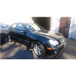 2006 MERCEDES C230, BLACK, GAS, AUTOMATIC, VIN#WDBRF52J16F800593, 208,195KMS,
