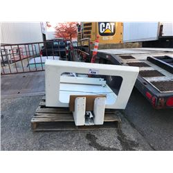 PALLET OF CNC MACHINE GUARD COVER & RAIL