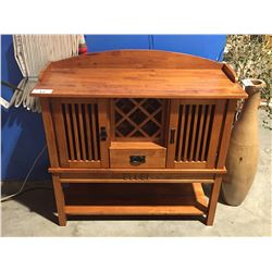 CONTEMPORARY MAHOGANY FINISH BUFFET CABINET
