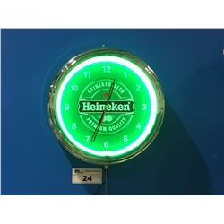 HEINEKEN BEER NEON WALL CLOCK